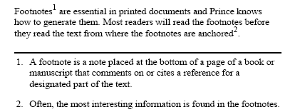 where are footnotes located