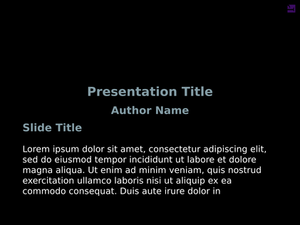A Title Page Slide For Presentation With And